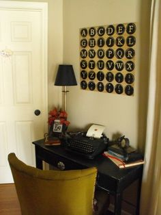 Typewriter, vintage, living room