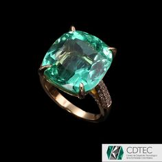 RRV $123,500 - 18ct Y.G, 13.71ct Colombian Emerald & Diamond Ring
