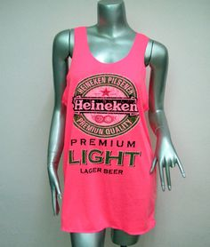 HEINEKEN Beer TShirt Women shirt Tank Tops Mini by DECORATIONS1980