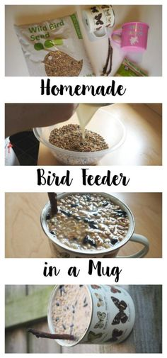 Make a cute homemade bird feeder in a mug to help feed the birds this Winter! Make a cute homemade bird feeder in a mug to help feed the birds this Winter! It's cheap and easy to make and is a great thing to do for the birds. Homemade Bird Houses, Homemade Bird Feeders, Diy Bird Feeder, Bird Suet, Bird House Feeder, Birdhouse Designs, Birdhouse Ideas, Bird House Kits, Bird Aviary