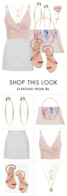 """""""Untitled #1183"""" by fervi ❤ liked on Polyvore featuring Bebe, Ted Baker, Topshop and Elina Linardaki"""