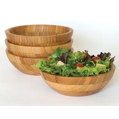 Lipper International Bamboo Salad Bowl (Set of 4)