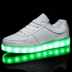 7fddcb296 LED Shoes For Adults Men Shoes Casual Led Light Men Casual Luminous Light  White Black Lovers Casual Flash USB Charging Shoes
