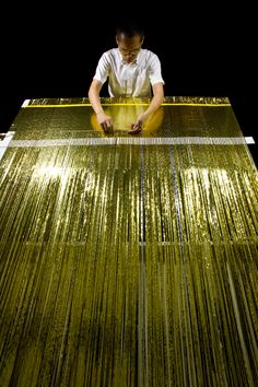 Hunn Wai: Lanzavecchia + Wai | weaving Mylar® space quilt: one day in the life of V.M. on earth