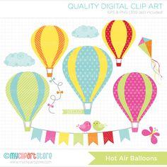 vintage hot air balloon clip art - Google Search