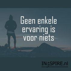 Quote van inspirator Mark Nepo: Geen enkele ervaring is voor niets | ingspire