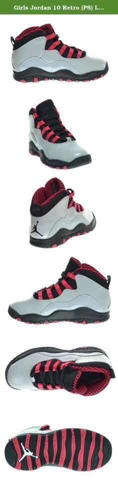 promo code c3504 5d119 Girls Jordan 10 Retro (PS) Little Kids Basketball Shoes Wolf Grey Black-
