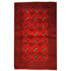 Herat Oriental Semi-antique Afghan Hand-knotted Tribal Balouchi Red/ Rug