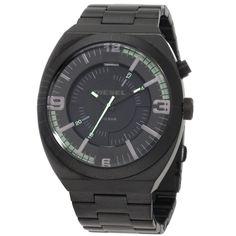 Diesel DZ1415 Men's NSBB Black Dial Black Ion Plated Stainless Steel Quartz Watch,