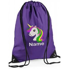 Personalised Childrens Unicorn Drawstring Gym Bag with Any Buy 2 Get 1 Free   af3b1ca78