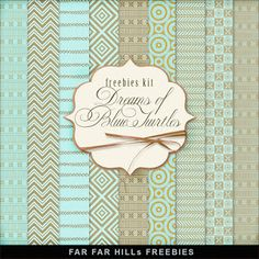 Far Far Hill - Free database of digital illustrations and papers: New Freebies Kit of Backgrounds - Dreams of Blue T...