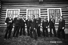 Laughing Groom with Groomsmen.... #brideandgroom #wedding #groom #coloradowedding www.paigeeden.com