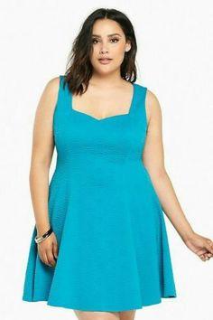 a4b9d4956f Torrid aqua bright blue textured knit dress NWT 0 XL 12 plus size cocktail  party