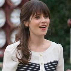 Zooey Deschanel   celebrities, actress, model, bangs, hairstyle, makeup, lipstick, fashion, new girl, tv show, silly, cute, music