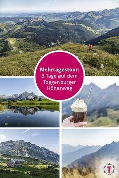 Mehrtagestour im Toggenburg - Toggenburger H& Happy Hollidays, Hiking Routes, Travel Goals, Germany Travel, Wanderlust, Beautiful Landscapes, Trekking, Switzerland, Places To Go