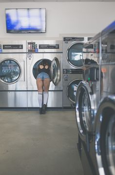 Laundromat shoot by Shelby Crabb photography model abi countryman