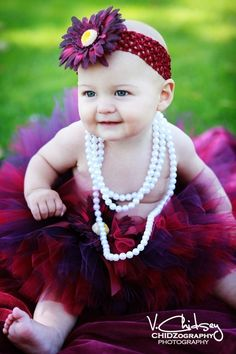 Randeen is going to hate me :-)      Baby Tutu  Girls Tutu  purple burgundy tutu w/ by TiarasTutus, $30.00