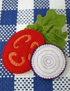 Wool Felt Play Food  Sandwich Making Accessories by EvaLauryn, $22.00