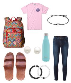 """""""Ninth day of school"""" by haleye2016 on Polyvore featuring J Brand, Vera Bradley, S'well, Lokai and Reeds Jewelers"""