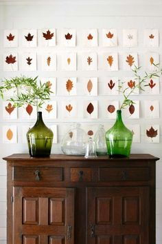 Instead of framing pressed foliage, place leaves on card stock. Then affix…