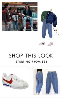 """steve harrington"" by ghostkid ❤ liked on Polyvore featuring NIKE, Levi's, Parajumpers and vintage"