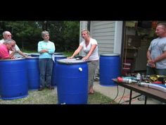 Breann Hohmann from the Erie Soil and Water Conservation District teaches a group at Old Woman's Creek about rain barrel construction and rainwater harvestin. Rain Barrel System, Soil And Water Conservation, Water Scarcity, Rainwater Harvesting, Smart Water, Yard Design, Green Building, Faucet, Boarding House