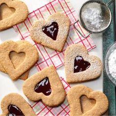 Linzer Heart Cookies Recipe from Taste of Home -- shared by Jane Pearcy of Verona, Wisconsin