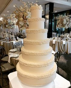 """Something Blue Wedding Cakes on Instagram: """"Did you know that scholars say that 7 denotes completeness or perfection. Well this was a perfect beginning for our couple who exchanged…"""" Tall Wedding Cakes, Luxury Wedding Cake, Something Blue Wedding, Wedding Cake Inspiration, Vanilla Cake, Couple, Desserts, Instagram, Food"""