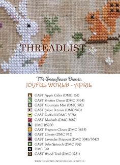 ...and the APRIL pattern has arrived, enjoy spring and happy stitching, my darling!:-)     You can join our stitch along (SAL) faceboo...