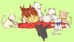 Haikyuu!! Kenma and the Cats