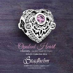 Pandora Opulent Heart Charm - Autumn Collection 2016