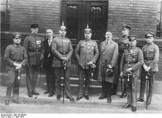 Hitler, Ludendorff, and other defendants after failed coup, Munich, Bavaria, Germany, 1 Apr 1924