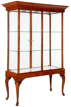 "48"" Queen Anne Tower Display Case http://custom.display-smart.com/queen-anne/queen-anne-tower48.html"