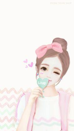 Imagen de Enakei, Nana, and lovely girl Anime Korea, Korean Anime, Korean Art, Cute Girl Wallpaper, Kawaii Wallpaper, Korean Illustration, Illustration Mignonne, Lovely Girl Image, Cute Cartoon Girl