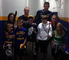 Barret Jackman and David Backes met with kids from Friends of Kids with Cancer to support #HockeyFightsCancer. #STLBlues