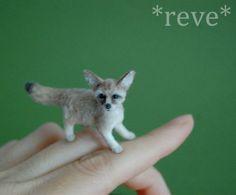 OOAK Realistic Handmade ~ Fennec Fox ~ Miniature 1:12 Dollhouse Sculpture   eBay