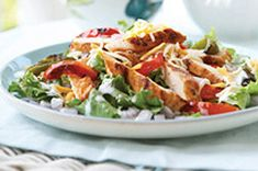 Use leftover chicken to make delicious chicken salad recipes from My Food and Family! We have handy chicken salad recipes for all occasions and preferences. Chicken Fajita Salad Recipe, Chicken Caesar Salad, Grilled Chicken Salad, Chicken Fajitas, Chicken Recipes, Turkey Recipes, Kraft Foods, Kraft Recipes, Dessert Recipes