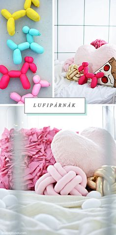 diy balloon & knot pillows via littleinspirtion.com