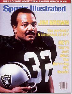 Jim Brown, LA. Raiders, SI cover 1984 Oakland Raiders Football, Nfl Football Players, Raiders Fans, Raiders Players, Raiders Stuff, Football Posters, Raiders Girl, Football Memorabilia, Football Cards
