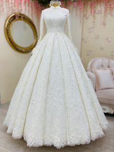 Muslim Wedding Gown, Muslimah Wedding Dress, Wedding Dress Prices, Muslim Wedding Dresses, Bridal Dresses, Party Dresses With Sleeves, Wedding Dress Sleeves, Marie, Boutique Nails
