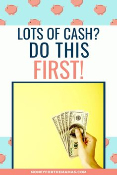 Here are the 7 steps you need to take to set you and your family up for success from a cash windfall. It's time for smart money management strategies! Money Tips, Money Saving Tips, Saving Ideas, Get Cash Fast, Cash First, Fund Accounting, Opportunity Cost, Sinking Funds, Financial Planner