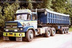 DAF BF-11-BY Siebesma  & v d Veen kipper trailer