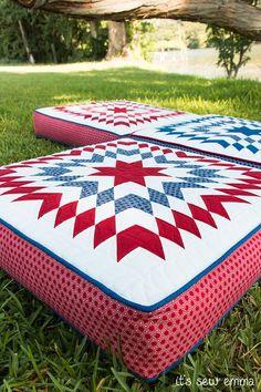 Bursting Star Boxed Pillow Cushion