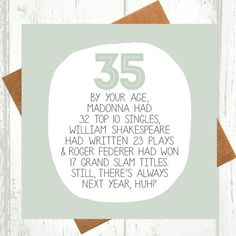 35th Birthday Card  funny birthday cards  funny by WeArePaperPlane