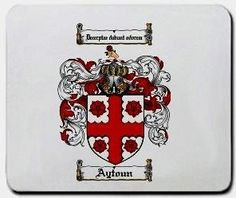 Aytoun Family Shield / Coat of Arms Mouse Pad $11.99