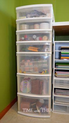 Arrumada plástico gavetas de armazenamento ~ transformar facilmente unidades básicas de plástico gaveta em algo mais decorativo e elegante!