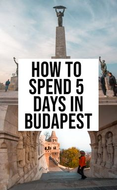 5 days in Budapest: The perfect Budapest itinerary to help you plan your next trip to Budapest. It includes the best things to see in Budapest. European Travel Tips, European Destination, Europe Travel Guide, Travel Guides, Backpacking Europe, Travel Advice, Places To Travel, Travel Destinations, Places To Visit