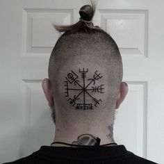 Head tattoo by Vladimir Bydin.