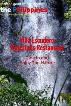 Dine in near the waterfalls of Villa Escudero Philippines.  #philippines #Villaescudero #ItsmorefuninthePhilippines