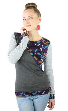 Longsleeves - Longsleeve grau - ein Designerstück von JAQUEEN-handmade-streetwear-berlin bei DaWanda